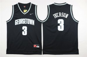 Lowest Price Philadelphia NBA 76ers Georgetown University #3 Allen Ezail Iverson Black TGI3258