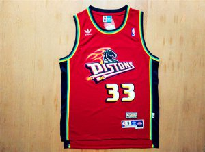 Lowest price guarantee Detroit Pistons NBA 33 Grant Hill Swingman Throwback red UJG1412