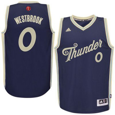 Lowest price guarantee Thunder #0 Russell Westbrook Navy Blue 2015 2016 Christmas Day Stitched Jersey HVK1014