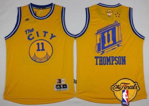 Many offers Golden State Warriors #11 Klay NBA Thompson Retro Yellow 2016 The Finals Patch VPD6