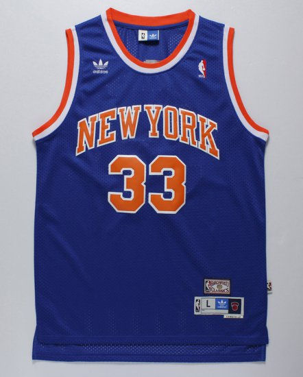 competitive price 009bf f7b6d New Trend Basketball York Knicks 33 Ewing Throwback Blue ...