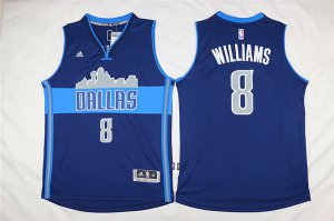 Originals Mavericks #8 Deron Williams Navy Blue The City Merchandise Stitched XYQ1275