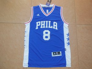 Real Jahlil Okafor Philadelphia Basketball 76ers Royal 2015 Draft 8 Pick Replica VLI3276