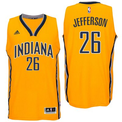 Seiko Cup Indiana Pacers #26 Al Jefferson 2016 Alternate Basketball Gold Swingman PET1988