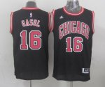 Unique design Chicago Bulls #16 gasol NBA black MNN770