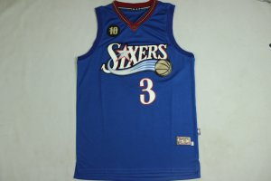 discount price Jerseys Iverson 76ers Rev30 material blue withot logo IVI3286