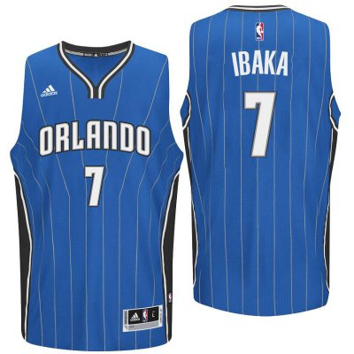 special Orlando Magic #7 Serge Ibaka 2016 Road Blue Merchandise Swingman TDS3148