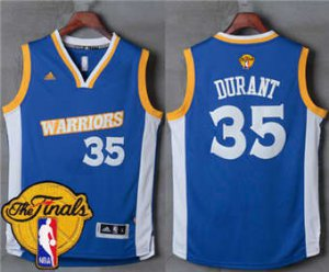 2018 Online Warriors #35 Kevin Durant Royal Stretch Apparel Crossover The Finals Patch Stitched NYC1871