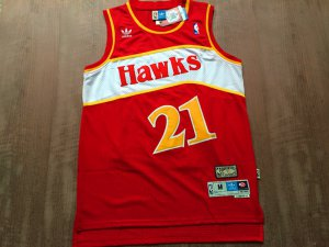 Best Cheap Gear Atlanta Hawks 21 Dominique Wilkins Rev30 Swingman Red NBB383