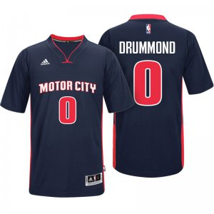 Best Gift Detroit Basketball Pistons #0 Andre Drummond Motor City Navy Pride Sleeved Swingman MQG1380
