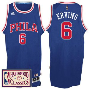 Big Discount Philadelphia 76ers #6 Julius Erving 2016 NBA 17 Season Royal Hardwood Classics Throwback KPS3242