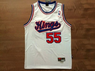 46eb0fa22 Buy Discount Sacramento Kings  55 Jason Williams White Gear Throwback  GFH3586