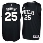 Buy Online 2018 Philadelphia 76ers #25 Ben Jerseys Simmons Black Swingman QVM3224