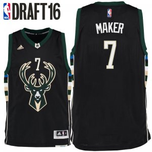 Cheap Buy Online 2016 Draft Milwaukee Bucks #7 Jersey Thon Maker Alternate Black Swingman OMP2804
