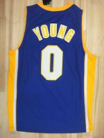 Cheap New Apparel Los Angeles Lakers #0 Nick Yong Purple BHW2460