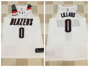 Comfortable and dry Apparel DaMian Lillard Portland Trail Blazers white color DNV3458
