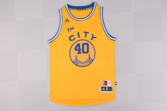 7dd29c658 Exactly Fit  40 Gear Barnes Golden State Warriors Throwback Yellow (heat  Applied) DQX1671