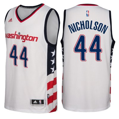 Fast Shipping Washington Wizards #44 Andrew Nicholson 2016 17 Stars & Stripes White NBA Alternate Swingman YLF4180