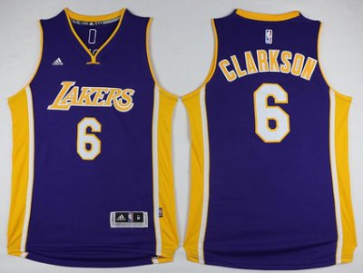 Hot Sale Los Angeles NBA Lakers #6 Jordan Clarkson Revolution 30 Swingman Purple ZHI2396