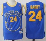 Hot Sale Warriors Merchandise #24 Rick Barry Blue Throwback Golden State Stitched POR1639