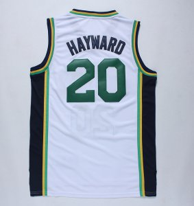 Hot Utah Jazz #20 Gordon Hayward Merchandise Revolution 30 Swingman GFO4145