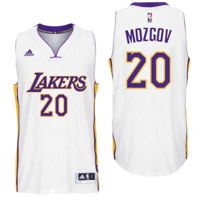 Manufacturer's delivery Los Angeles Lakers #20 Timofey Mozgov 2016 Alternate White Jerseys Swingman OTQ2363