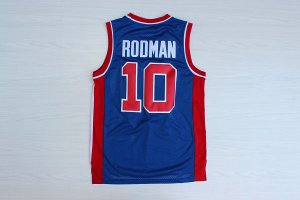 New Arrival 2018 Detroit Pistons #10 ROOMAN Clothing Blue SWINGMAN UFD1421