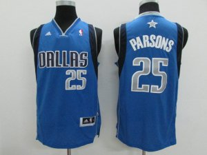 New Arrival Dallas Mavericks 25 Chandler Parsons Royal Blue Basketball Swingman Road FHA1279