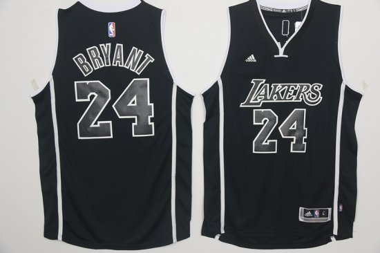 New Arrival Los Angeles Lakers Merchandise 24 Kobe Bryant Black And White  Swingman CFI2362 482a6659d