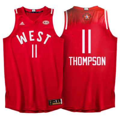 New trend 2016 All Star Western Conference Warriors #11 Klay Basketball Thompson Red UOT309