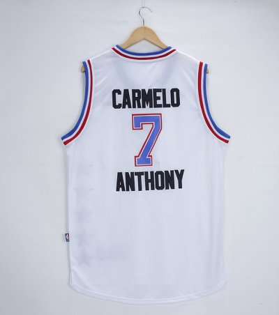 New trend all star Merchandise #7 carmelo anthony white UER154