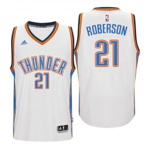 Newest Oklahoma City Thunder #21 Andre Roberson 2015 16 Swingman Home Jersey White MXQ3105