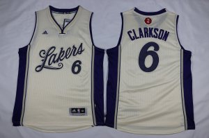Online Cheap lakers#6 Clarkson Lakers 2016 Apparel Christmas Day MRQ999