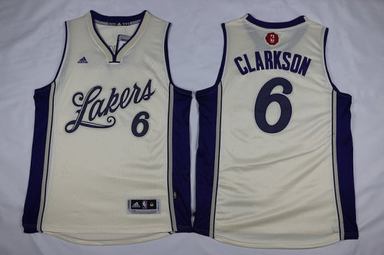 d3b0f085847d Online Cheap Lakers 6 Clarkson Lakers 2016 Apparel Christmas Day MRQ999