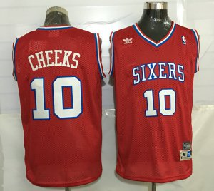 Popular 76ers #10 Maurice Cheeks NBA Red Throwback Stitched HKF3247
