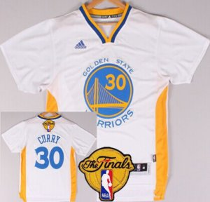 Shop Discount Golden Jerseys State Warriors #30 Stephen Curry White Short Sleeved 2016 The Finals Patch EJJ31