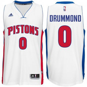 Silk fabric Detroit Pistons #0 Gear Andre Drummond White Stitched MEY1397