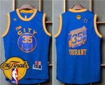 The Cheapest Warriors #35 Kevin Durant Blue Throwback The City The Finals Jersey Patch Stitched ZAD1868