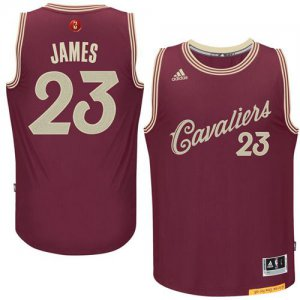 Thin versio Cavaliers #23 LeBron Jerseys James Red 2015 2016 Christmas Day Stitched NQO984