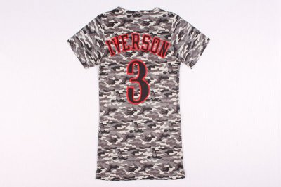 Top Quality 3 Iverson women dress Jerseys YMQ4292