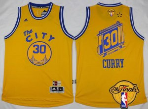 absorbent Golden State Warriors #30 Stephen Curry 2015 16 Basketball Retro Yellow 2016 The Finals Patch IBV17