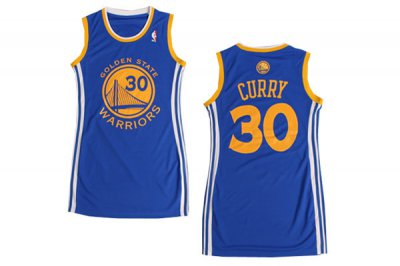 special #30 Stephen Curry Women Sexy Dress Blue NBA White HUR4375