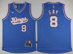 special Sacramento Kings #8 Rudy Basketball Gay Revolution 30 Swingman 2015 16 Blue DIR3527