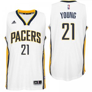 Activities in sales Indiana Pacers #21 Thaddeus Clothing Young 2016 Home White Swingman JRW1993