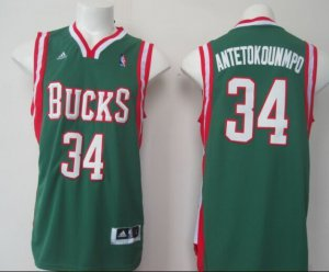 Authentic #34 Antetokounmpo Jerseys Milwaukee Bucks green AMN2831