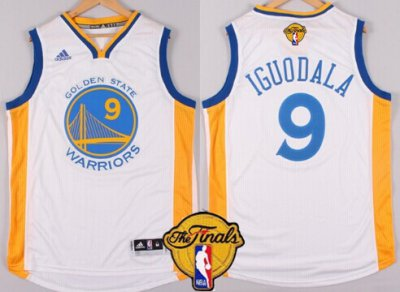 Beautiful Golden Apparel State Warriors #9 Andre Iguodala White 2016 The Finals Patch BSM42