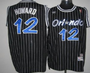 Best Gift Orlando Magic #12 Dwight Howard Black Hardwood Merchandise Classics Soul Swingman Throwback AMZ3174