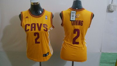 Buy 2018 Women Cleveland Cavaliers 2 Kyrie Irving Merchandise Swingman Yellow YTR4344