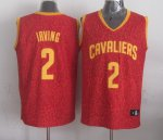Buy Authentic Leopard grain Cleveland Cavaliers #2 Clothing Irving red DYK1129