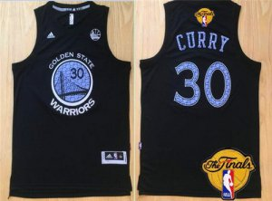 Cheap price Golden State Warriors #30 Stephen Curry Black With Purple Diamond 2016 The Finals Clothing Patch WOG21